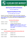 Look for us at the CSU Research Day on April 10
